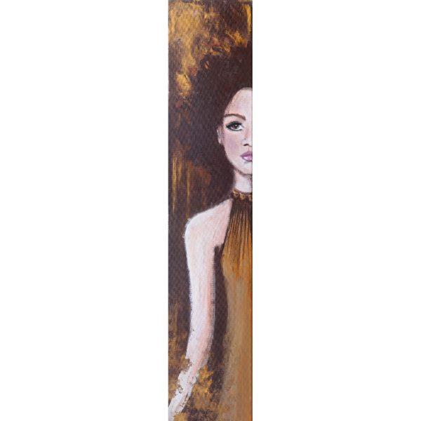 Caterina – Original: Acryl auf Leinwand – Kunstdruck: Latex auf Leinwand in Galeriequalität - Komplettansicht