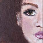 Caterina – Original: Acryl auf Leinwand – Kunstdruck: Latex auf Leinwand in Galeriequalität - Detailansicht