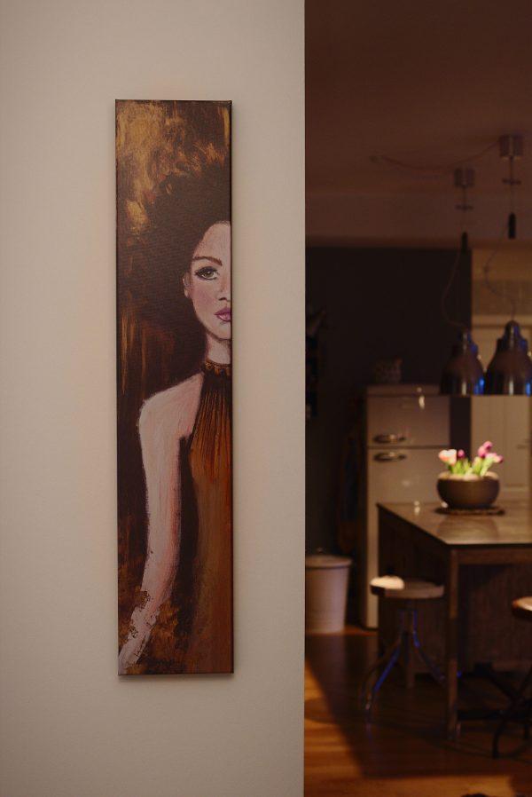 Caterina – Original: Acryl auf Leinwand – Kunstdruck: Latex auf Leinwand in Galeriequalität im Ambiente