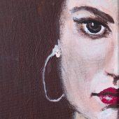 Gina – Original: Acryl auf Leinwand – Kunstdruck: Latex auf Leinwand in Galeriequalität – Detailansicht