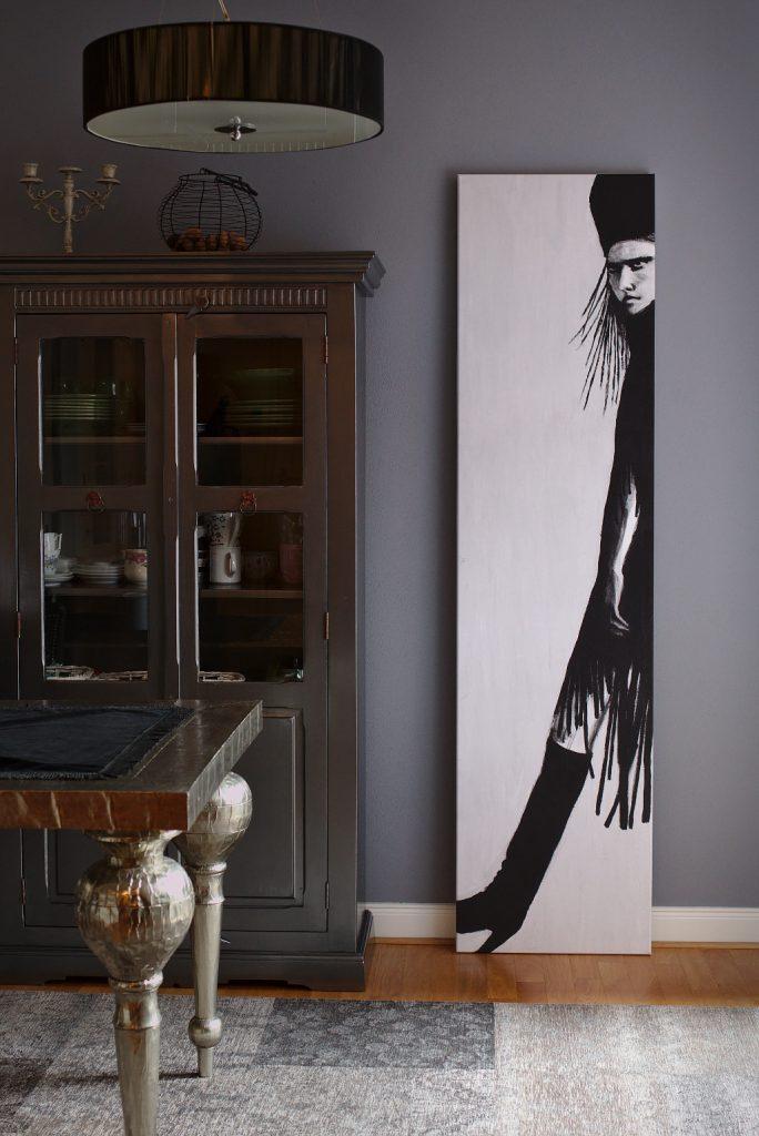 Nikita - Original: Acryl auf Leinwand - Kunstdruck: Latex auf Leinwand in Galeriequalität im Ambiente
