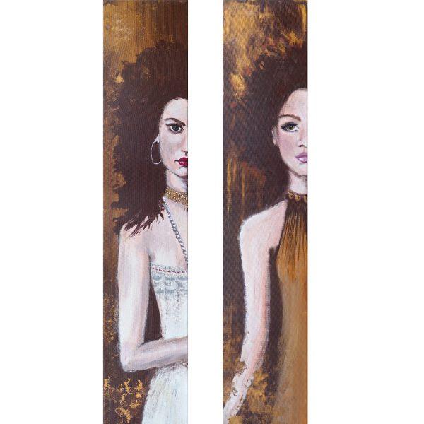 Gina & Caterina – Originale: Acryl auf Leinwand – Kunstdrucke: Latex auf Leinwand in Galeriequalität - Komplettansicht